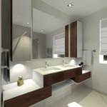 Salle de douche coté vasques
