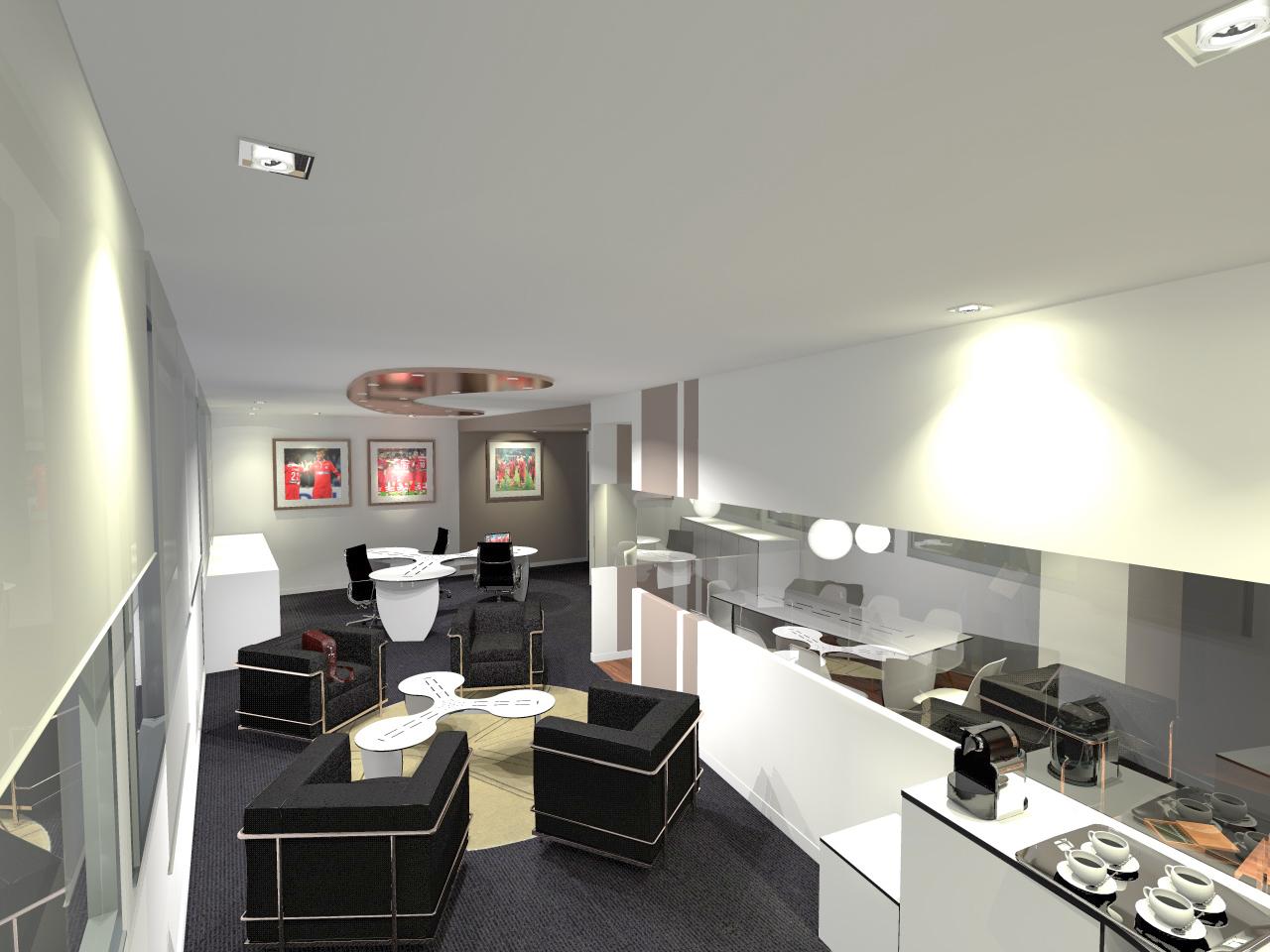 r alisation d 39 un espace bureau pour le royal p ruwelz. Black Bedroom Furniture Sets. Home Design Ideas