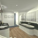Projet 3D Maison de style Sdb vue 1