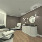 Projet 3D Maison de style Salle de bain vue 2