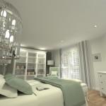 Projet 3D Maison de style Chambre vue 2