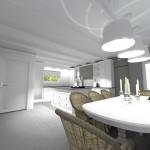 Projet 3D Maison de style Salle à manger cuisine vue 1